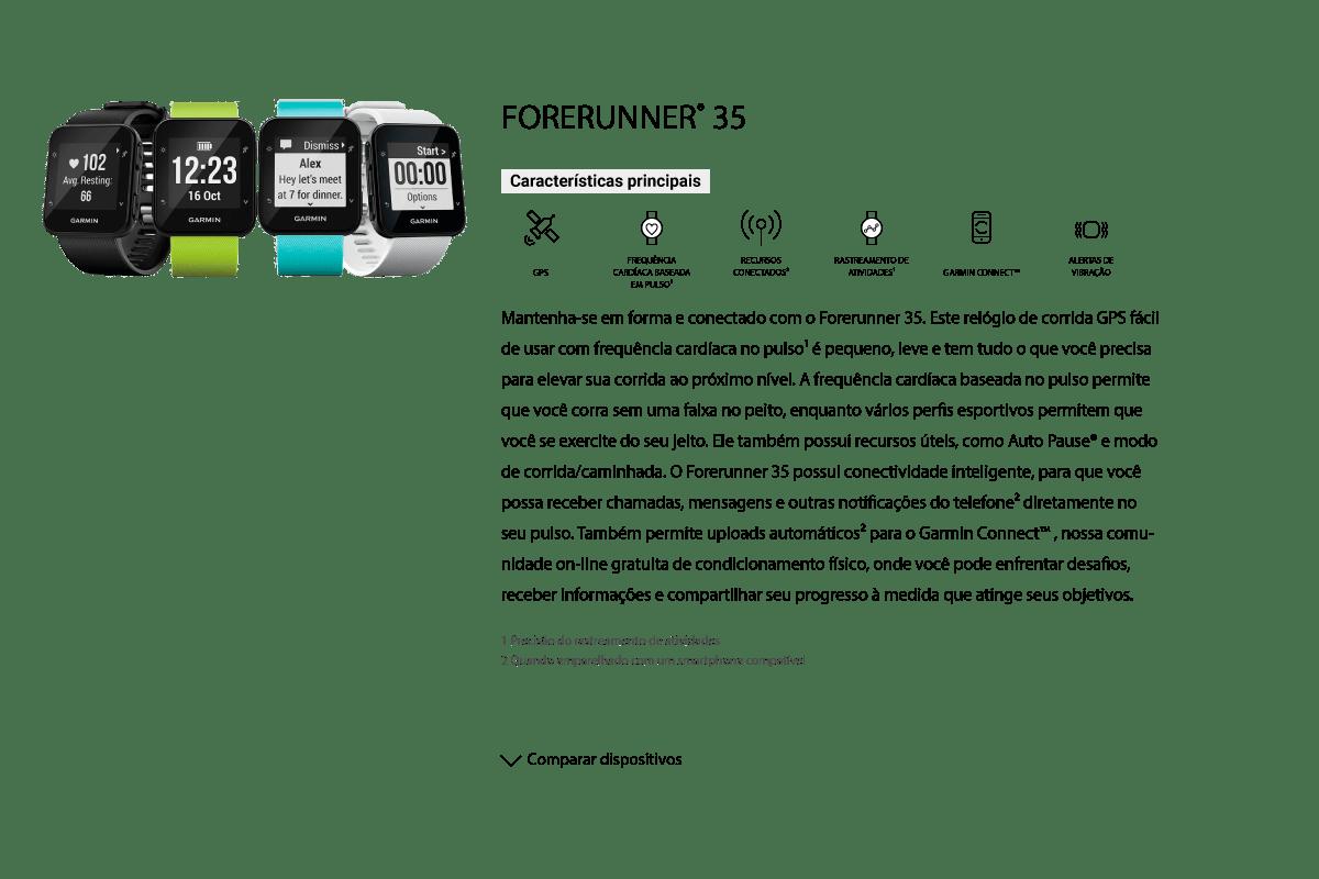 Comparativo Forerunner 35
