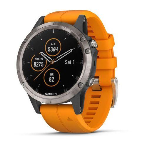 Smartwatch GPS Multiesportivo Premium Garmin com Monitoramento Cardíaco no Pulso Fênix 5 Plus com Tela de Safira.