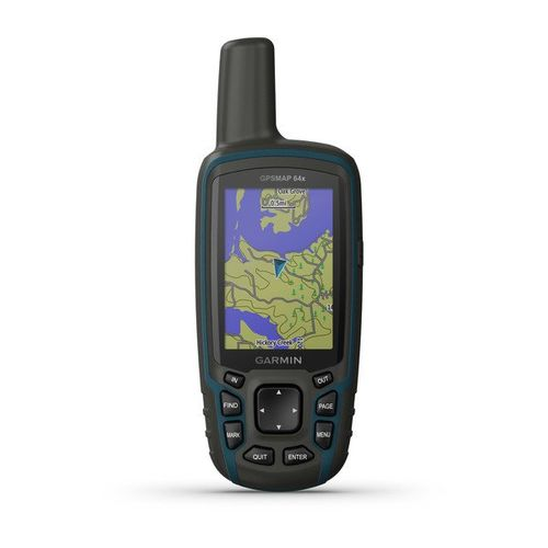 GPS Portátil Garmin GPSMAP 64x GPS/GLONASS com Mapa TopoActive América do Sul, com Antena Helix Quádrupla
